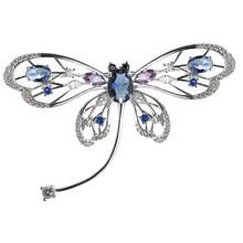 Neoglory Carino Farfalla Spille Sciarpa Merda Spille Clip In Metallo Strass Animal2020 Gioelleria raffinata e alla moda Per Le Donne(China)