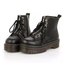 Yüksek platformu kadın deri çizmeler PU deri çizmeler kış kadın ayakkabı moda kadın ayakkabı(China)