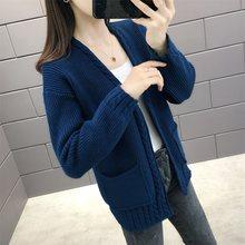 (West room upstairs 2 ранжирование № 3) новый осенний Тип культивировать мораль твист кардиган свитер платье карман 49(China)