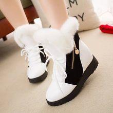 Bağcıklı Martin kısa çizmeler kadın rahat toka kare topuk kar sıcak tutmak artı kadife tüp ayak bileği çıplak çizmeler şişeler femme(China)