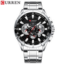 CURREN Wrist Watch Men Waterproof Chronograph Military Army Stainless Steel Male Clock Top Brand Luxury Man Sport Watches 8363(China)