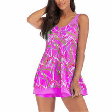 5XL Plus Size Swimwear Women Two Piece Tankini Set Striped Large Size Bikinis 2019 Beach Swimdress Big Sizes Swimsuit 3XL 4XL(China)