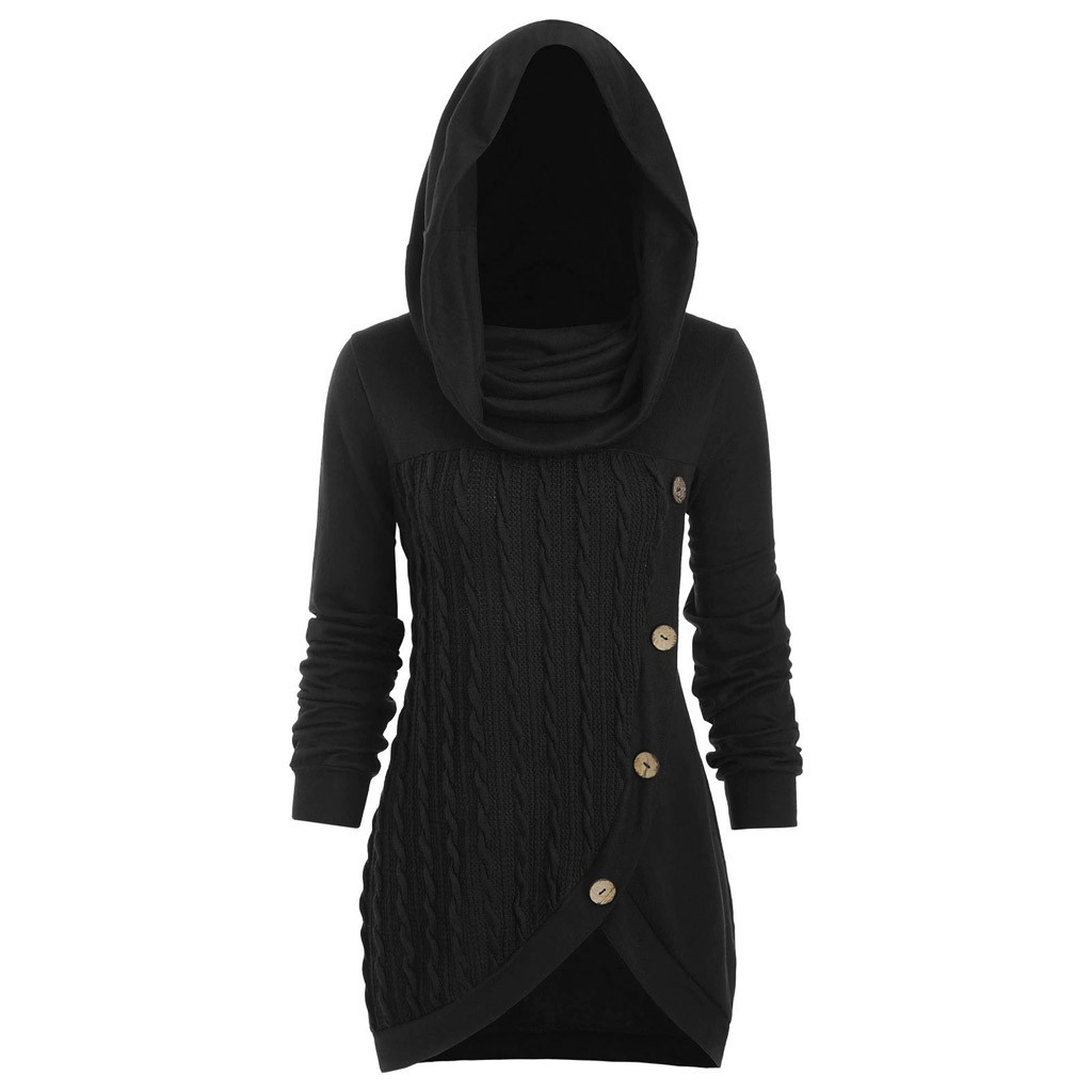 LoveSky Womens Hooded Plaid Pullover Hoodies Top Casual Outerwear