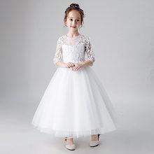 Свадебные платья для девочек с цветочным узором цвета шампанского; Yiiya B037; Детское платье для причастия; Новинка 2020 года; Фатиновые Бальные п...(China)