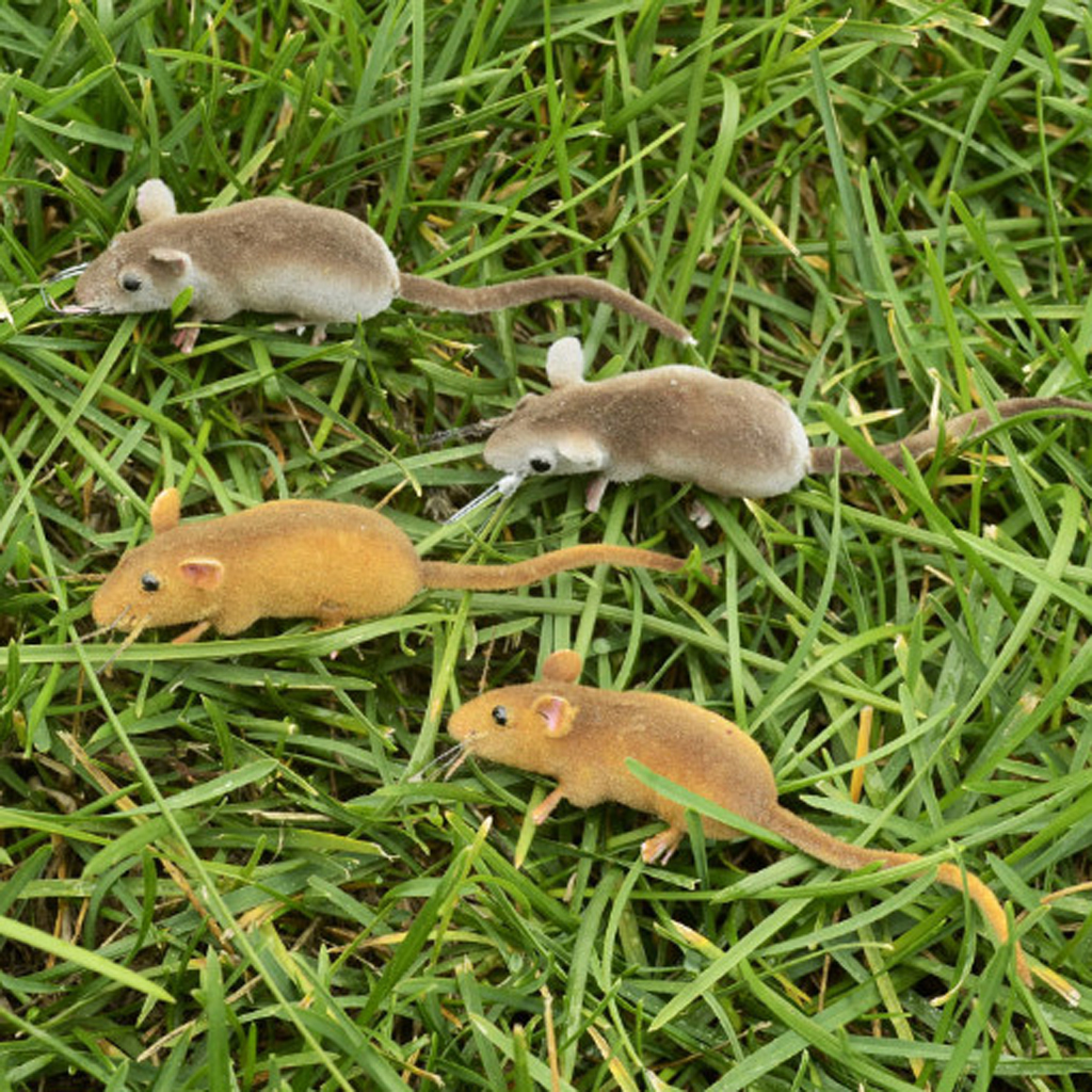 Realistic Mouse Statue With Magnet Lifelike Mice Model Artificial Animals Ornament For Garden Decoration Cat Toys Random Color