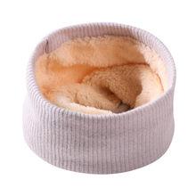 子供冬暖かいスカーフ男の子女の子キッズベビー固体ニット襟ネックスカーフ子ウォーマー O リングネッカチーフ幼児スカーフ(China)