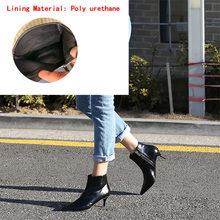 2018 herfst en winter nieuwe stijl met fijne wees hoge hakken Martin laarzen witte laarzen lederen laarzen vrouwen laarzen lente wedgie(China)