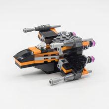 Новый MOC Legoins Lepins Star Wars Mini X-Wing fighter, космический корабль, боевой самолет, строительный блок, игрушка для мальчика, набор для подарка на день рож...(Китай)