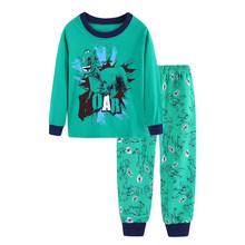 Осенняя детская одежда для мальчиков и девочек детская пижама с длинным рукавом, комплект детской одежды для сна с рисунком «летательный ап...(China)