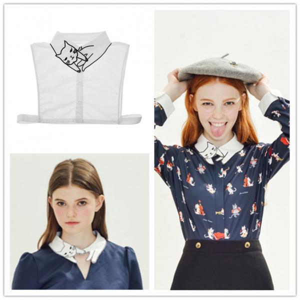 Women Fake collar Chiffon Choker Ladies statement Necklaces Blouse - Kitty