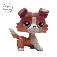 Pet shop lps brinquedos coleções em pé curto cabelo Real gato Branco 2291 Tabby 1451 Preto 2249 cão dachshund 675 collie great dane(China)