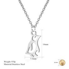 Stainless Steel Fashion Kalung 2019 Hewan Gajah Kalung Wanita Terbaik Teman Lucu Kucing Anjing Kalung Hewan Peliharaan Kucing Liontin(China)