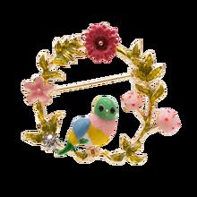 CINDY XIANG Dello Smalto Uccello E Fiore Spille Per Le Donne Carino Piccolo Animale Spille Monili di Cerimonia Nuziale 3 Colori Avaibale di Alta Qualità nuovo(China)