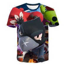 2019 летняя новая детская игра для метания Футболка мужская футболка с 3D принтом в виде драки и звезд топы с короткими рукавами для мальчиков ...(China)