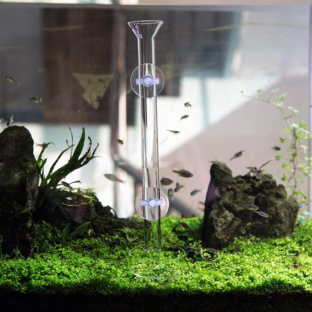 2 Pcs Aquarium Practical Shrimp Feeding Food Dish Glass Tube Suction Fish Tank Supply