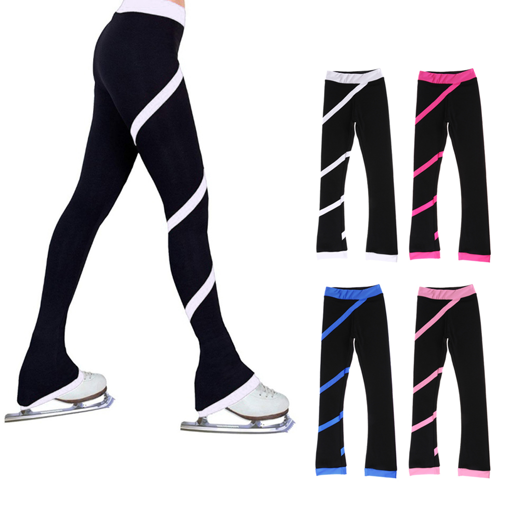 Ice Skating Pants Adult Kids Child Girl Women Figure Skating Trousers Tights