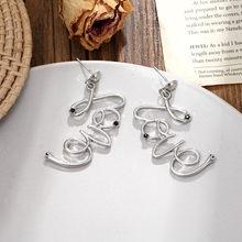 2019 New Korean Love Heart Earrings Charm Pearl Tassel Crystal Earrings For Women Fashion Asymmetric Drop Earring Luxury Jewelry(China)