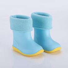 ילדי גשם מגפי חדש אופנה קלאסי ילדי נעלי PVC גומי ילדים נעלי הקריקטורה של מים נעליים עמיד למים מגפי גשם(China)