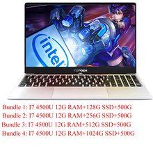 """15.6 """"Laptop Nga Win10/Bàn phím Laser Intel i7-4500U/6500U I5 8250U 8G/16G RAM DDR4 1024G SSD vỏ kim loại bàn phím có Đèn Nền(China)"""