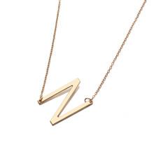 Индивидуальное ожерелье с буквами, большое колье, Золотая подвеска, оригинальное ожерелье s для женщин, современные аксессуары, воротник, оп...(China)
