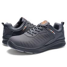 MODYF männer Stahl Kappe Sicherheit Arbeit Schuhe Leichte Atmungsaktive Anti-Smashing Nicht-Slip Construction Schutz Schuhe(China)