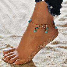 自由奔放に生きるビーチアンクレット足に 3 ピース/ロットクリスタルスパンコールチェーンアンクレットセットビーチ女(China)