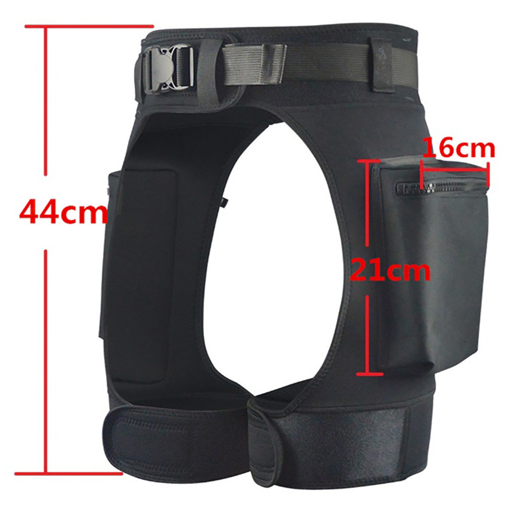 Mens Wetsuit Short Pants Stretch Shorts with Pockets and Quick Release Buckle Adjustable Waist Belt Swimming Diving Shorts