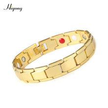 Mode Magnetische Therapie Gezondheid Armband Titanium Stalen Armbanden Magneten Gezondheidszorg Armbanden Armband Sieraden Voor Vrouwen Mannen(China)