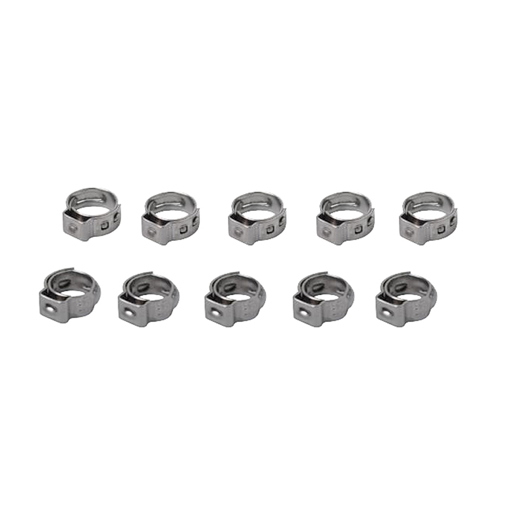 10Pcs Stainless Steel Car Home Appliance Single Ear Hose Clamps 7.0mm-8.7mm