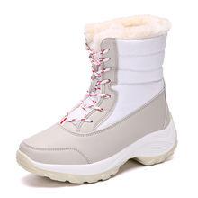 ASUMER 2020 neue winter schnee stiefel frauen round toe lace up damen stiefeletten gemischte farben warm halten plattform stiefel große größe(China)