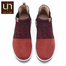 UIN DR Ken Series Mùa Thu/Mùa Đông Cổ Chân Giày Cho Nữ/Nam Dệt Kim/Microfiber Da Lộn Ấm Thoải Mái giày Thể Thao Thông Thường Giày(China)