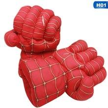 1 par Incrível Hulk & Luvas Superhero Spiderman Punching Boxe Punho Mãos Quebra de Pelúcia Brinquedos de Pelúcia(China)
