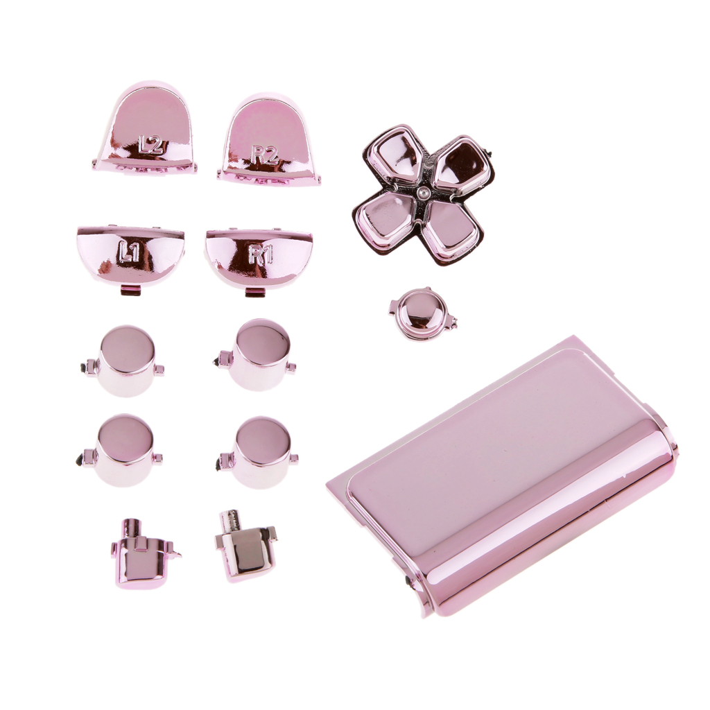 Replacement Chrome Plating Buttons and Touchpad for Sony PS4 Controller stylish facade better protection for game contoller