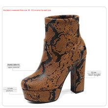 WETKISS Dicken High Heels Frau 2020 Schlange Booties Weibliche Ankle Boot Plattform Frauen Schuh Zip Weibliche Winter Schuhe Plus Größe 43(China)