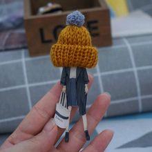 Donna sveglia bella Spilla Cappello di lana Distintivi e Simboli Spille Spilli Moda Spille per la Donna di Stile Harajuku Distintivi e Simboli Spilli Regali di Goccia- trasporto libero(China)