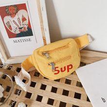 Enfants Nylon taille Packs enfants Fanny Packs garçon fille bébé argent épaule bandoulière poitrine ceinture mode sacs bonbons couleurs T-4840(China)