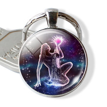 12 constelações chaveiro constelação chaveiros signo do zodíaco chaveiro pingente jóias libra aries leo moda presente de aniversário(China)