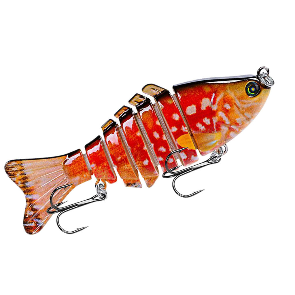 100mm Realistic Fishing Jointed Lures 6# Hooks Suits for Bass Trout Walleye Salmon Catfish Mandarin fish Freshwater Saltwater