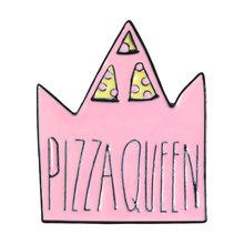 Pizza queen Risvolto Spilli Corona Pianeta Cuore tacchi Alti Spille Distintivi e Simboli Zaino Accessori Spilli Gioielli Regali Per La pizza Amici(China)