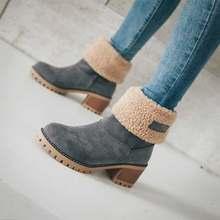 NASONBERG Frauen Schnee Stiefel Flache Spitze Up Winter Plus Größe Plattform Damen Warme Schuhe Pelz frauen Stiefel Weibliche(China)