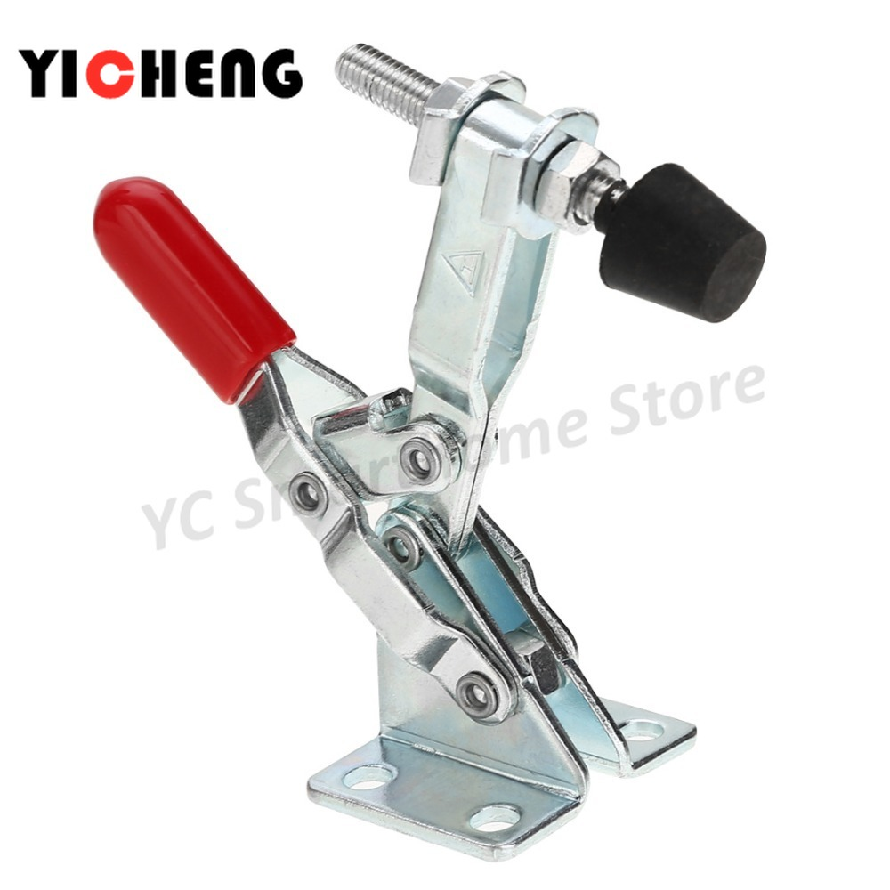 OBANGONG 8 Pcs Hand Tool Toggle Clamp 201A Antislip Red Horizontal Clamp GH-201A Quick Release Tool