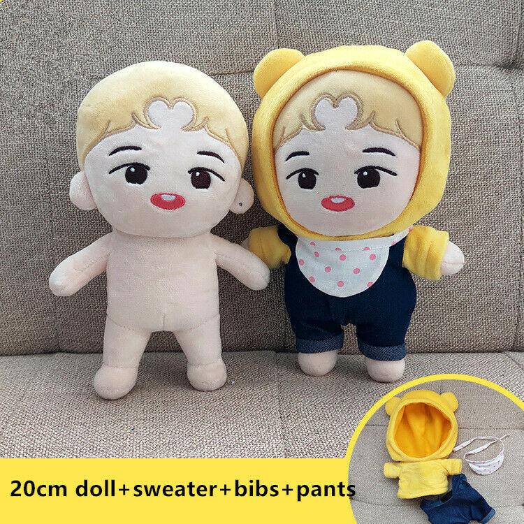 15cm 20cm KPOP EXO NCT GOT7 Jungkook Plush Doll/'s Clothes Shirt Skirt Pants Cap