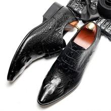 Мужская официальная обувь; мужские оксфорды из натуральной кожи; Новинка 2020 года; Мужские модельные туфли с острым носком в британском стил...(China)