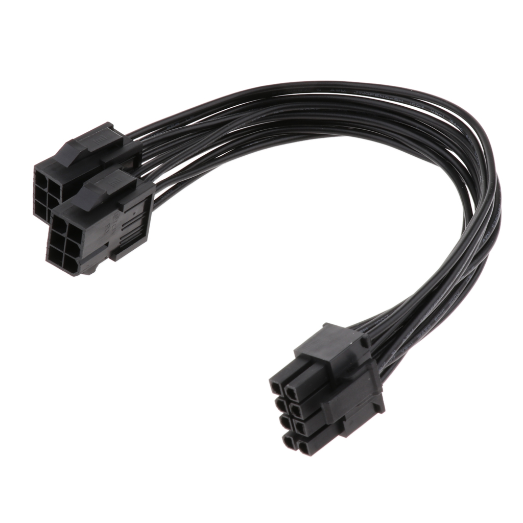 18AWG PCI-e Double 6 Pin To 8 Pin Video Graphics Card Power Supply Cable