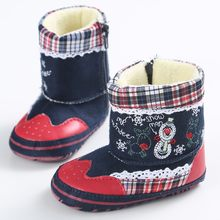 Christmas Toddler Kid Baby Girls Boy Flock Winter Warm Snow Boots Bootie Shoes cotton Mixed Color soft baby short boots casual(China)