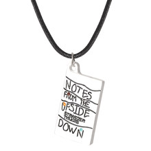 Film chaud chose étrange tableau blanc pendentif collier Rectangle lettre graver collier exquis hommes femmes accessoires(China)