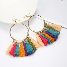 26 Style Tassel Earrings Bohemian Fringed Statement Fashion Ethnic Long Drop Dangle Earrings Female Jewelry Wholesale Price(China)