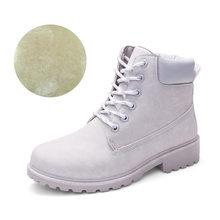 Kış Kar yarım çizmeler Kadınlar için Sneakers Kadın platform ayakkabılar Sıcak Kürk Beyaz Çizmeler Lace Up Bota Feminina Punk Schoenen Vrouw(China)