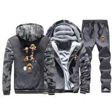 Одна деталь & Dragon Ball, забавные куртки Camo сильнейших с рисунком обезьяны из плотного флиса, набор одежда для мальчика в стиле японского аниме ...(China)