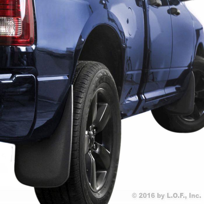 Premium Heavy Duty Molded Universal Mud Flaps Guards Splash Front and Rear Aluminum 4pc Set